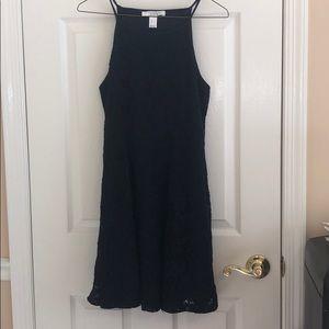 Dark Blue Short Lace Dress